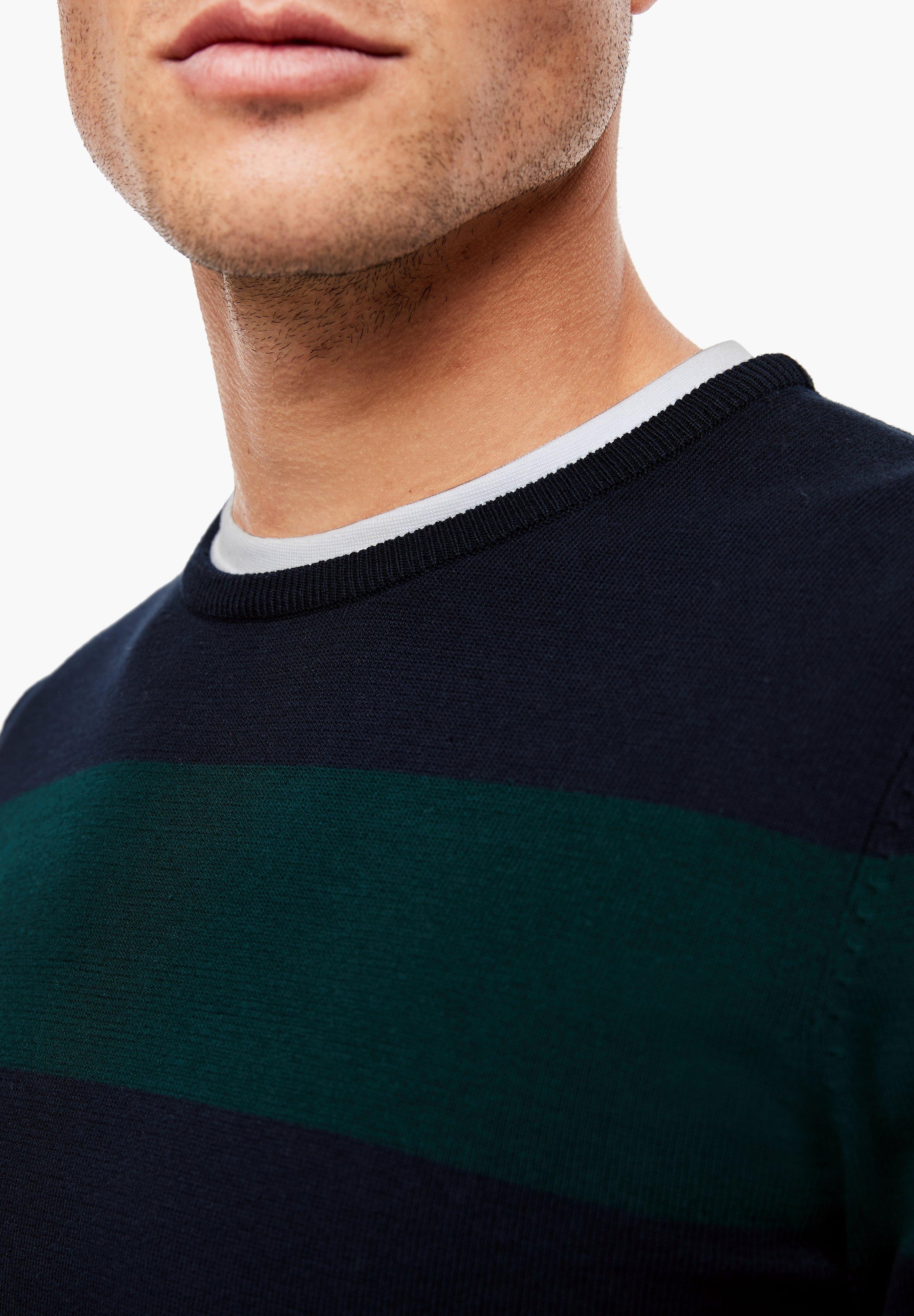 S.oliver Strickpullover - Dark Blue Stripes