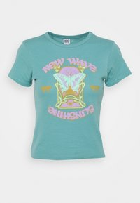 BDG Urban Outfitters - NEW WAVE SUNSHNE BABY TEE - Print T-shirt - turquoise - 3