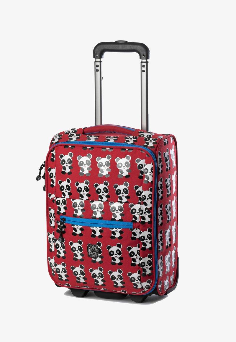 pick & PACK - PANDA  - Wheeled suitcase - rot