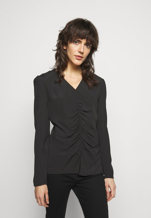 ANNIKE - Long sleeved top - black