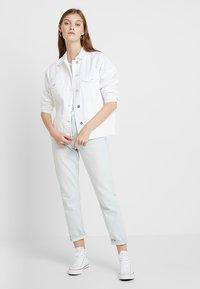 ONLY - ONLCAROLINE JACKET - Denim jacket - white - 1