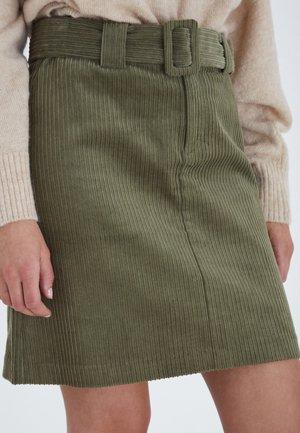 IHJORELLE SK - Spódnica mini - deep lichen green