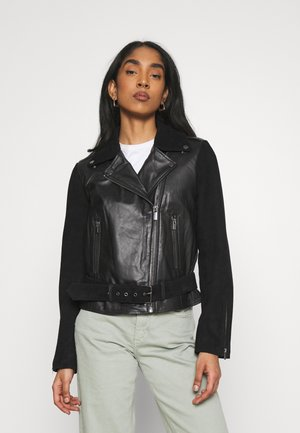VISAND BIKER JACKET - Leather jacket - black