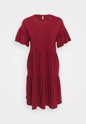 ONLMAY NEW LIFE CUTLINE DRESS - Jersey dress - pomegranate