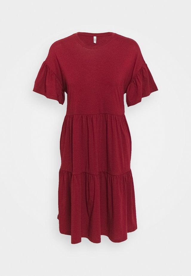 ONLMAY NEW LIFE CUTLINE DRESS - Trikoomekko - pomegranate