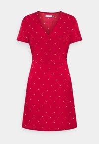 Missguided - HALF BUTTON TEA DRESS  - Shirt dress - red polka - 4
