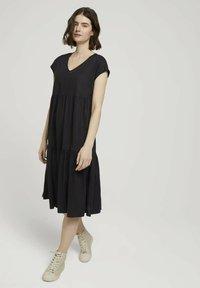 TOM TAILOR DENIM - Day dress - deep black - 1