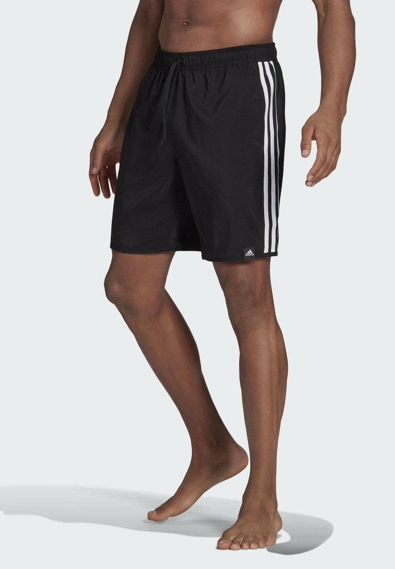 adidas Performance - 3 STRIPES CLASSICS PRIMEGREEN SWIM SHORTS - Shorts da mare - black/white