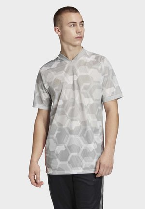 TAN TECH GRAPHIC JERSEY - Print T-shirt - grey