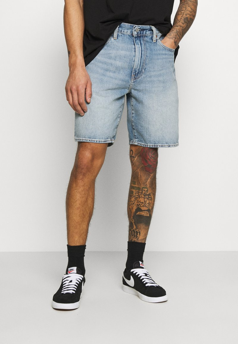 Levi's® - 469 LOOSE  - Denim shorts - blue denim