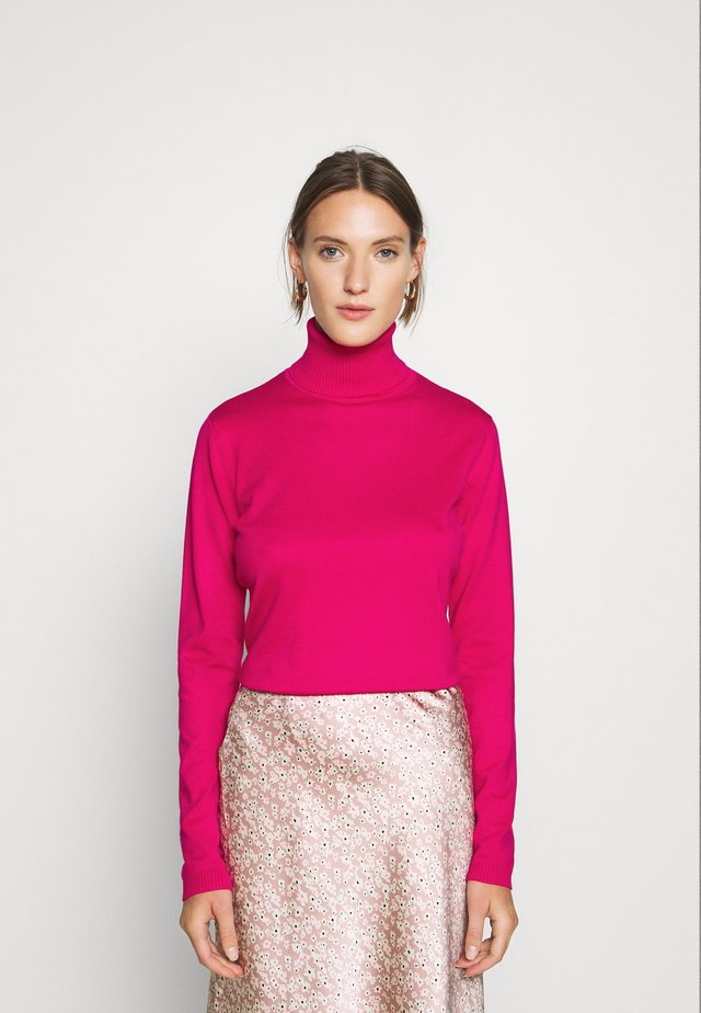 SRMarla Rollneck - Stickad tröja - pink peacock