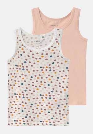 NMFTANK DOT 2 PACK - Unterhemd/-shirt - peach whip
