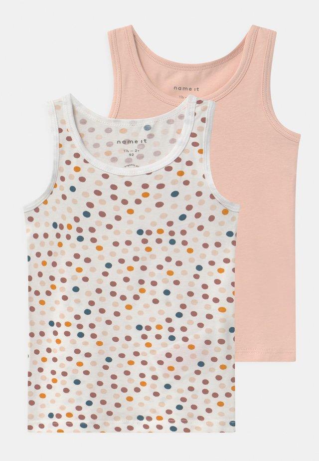 NMFTANK DOT 2 PACK - Camiseta interior - peach whip