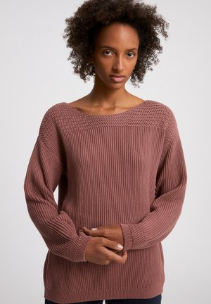 Sweater - natural dusty rose