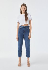 PULL&BEAR - Jean slim - stone blue denim - 3