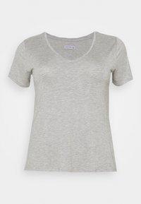 Anna Field Curvy - 3 PACK - T-shirt basic - black /white/light grey - 1