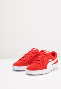 Puma - SMASH - Trainers - high risk red/white - 2