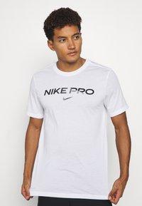 Nike Performance - TEE PRO - Triko spotiskem - white - 4