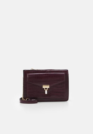 PAZ CROC XBODY - Across body bag - dark burgundy
