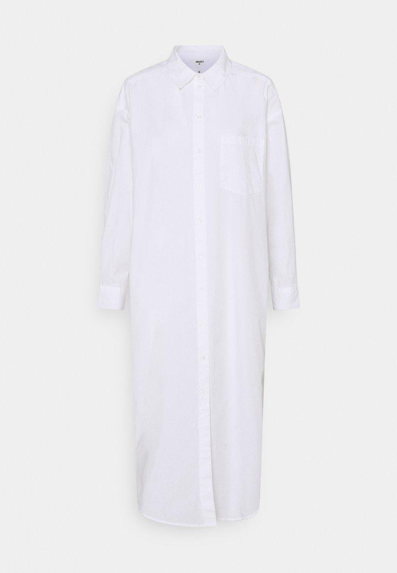 Object - OBJDIVIA SHIRT DRESS - Shirt dress - cloud dancer