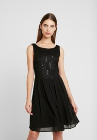 Vila - VIGINA DRESS - Cocktailkjole - black - 0