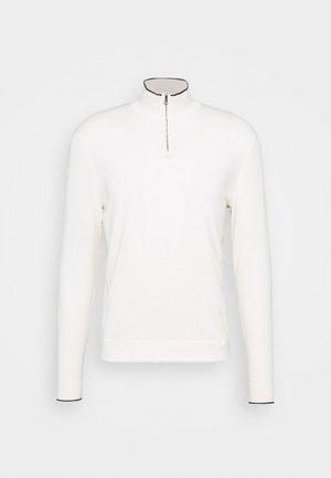 TIPPED HALF ZIP - Pullover - ecru