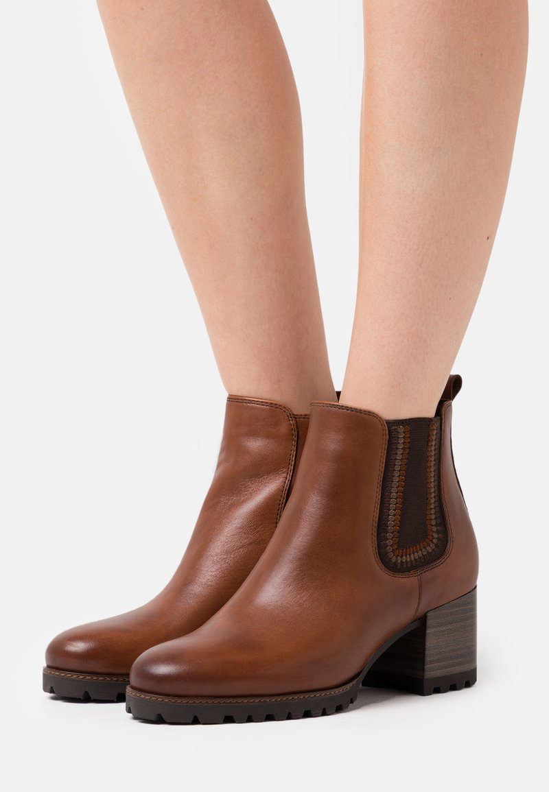 Tamaris Pure Relax - Ankle boots - cognac