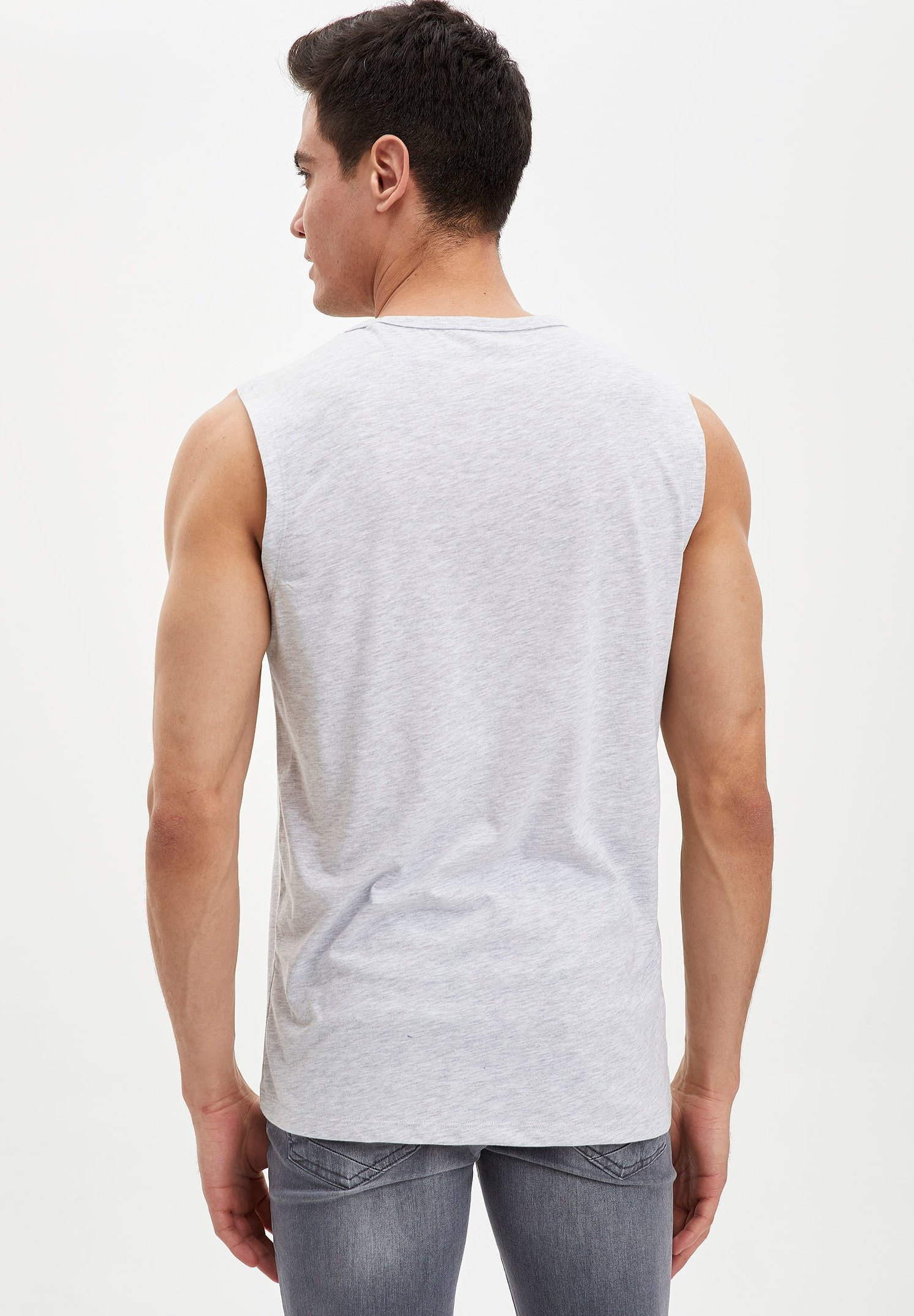 Nike Sportswear TEE JUST DO IT - T-shirt med print - white/limelight/cerulean/vit - Herrkläder me2Wr