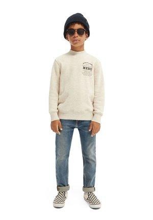 MOCK GRAPHIC - Sweater - ecru melange