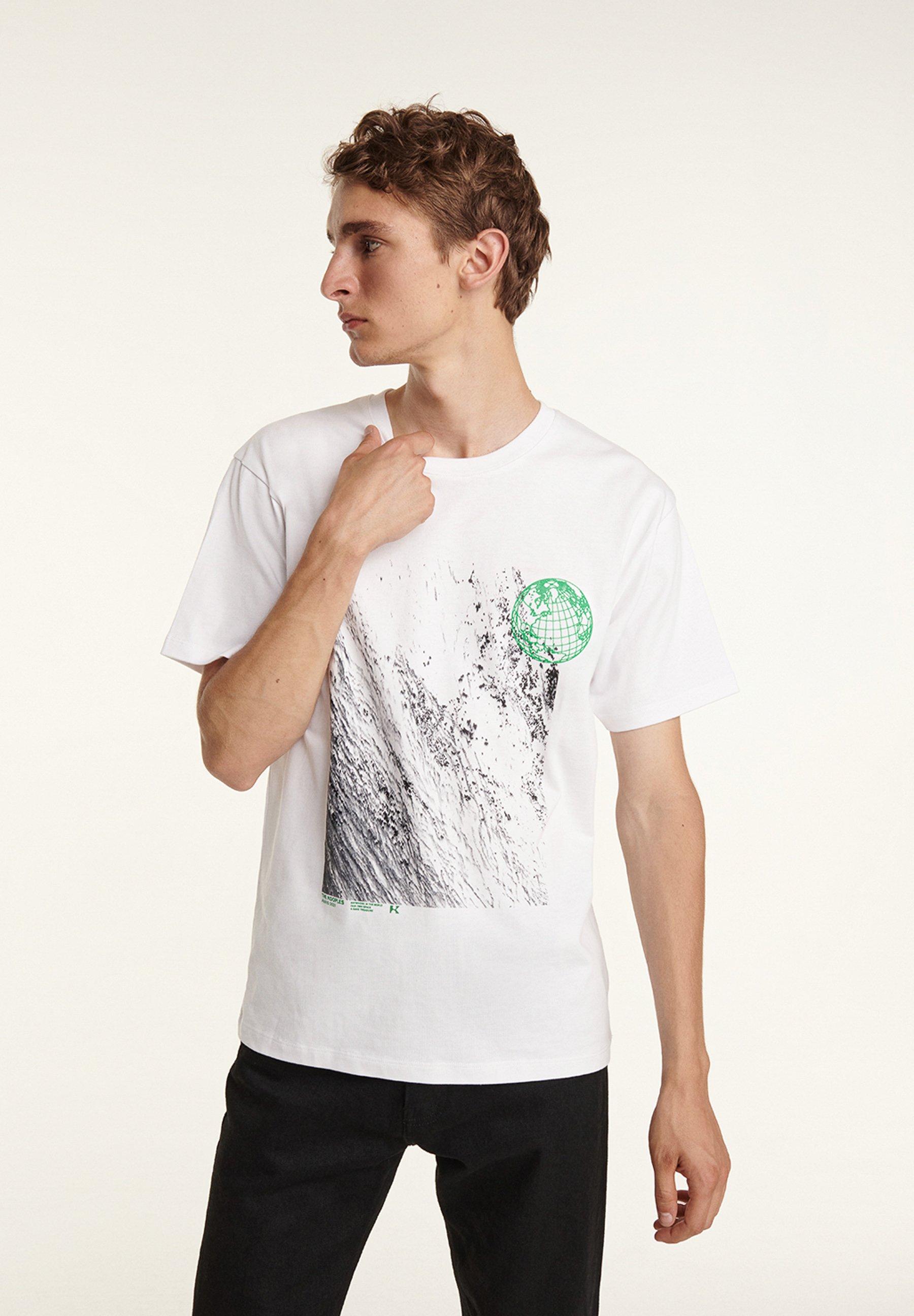 Homme TEE SHIRT MANCHES COURTES  À IMPRIMÉ ET DÉTAIL B - T-shirt imprimé
