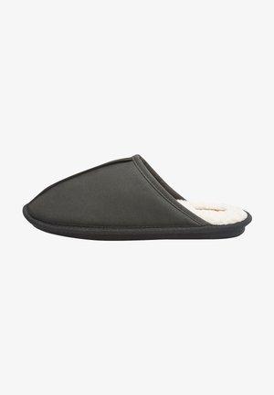 WAXY FINISH - Slippers - black