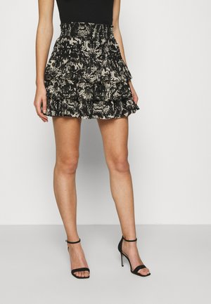 RUFFLE SKIRT - Mini skirt - black