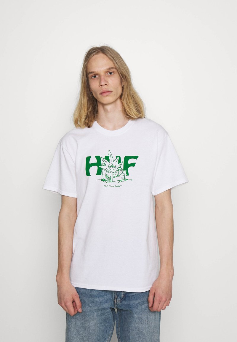 HUF - IN DA COUCH TEE - Print T-shirt - white