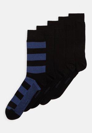 BLOCK STRIPE ANKLE SOCK 5PACK - Ponožky - winetasting
