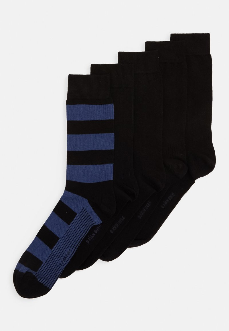 Björn Borg - BLOCK STRIPE ANKLE SOCK 5PACK - Ponožky - winetasting