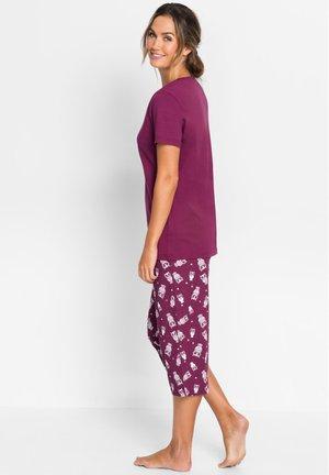 MIT KURZEN ÄRMELN - Pyjama - lila
