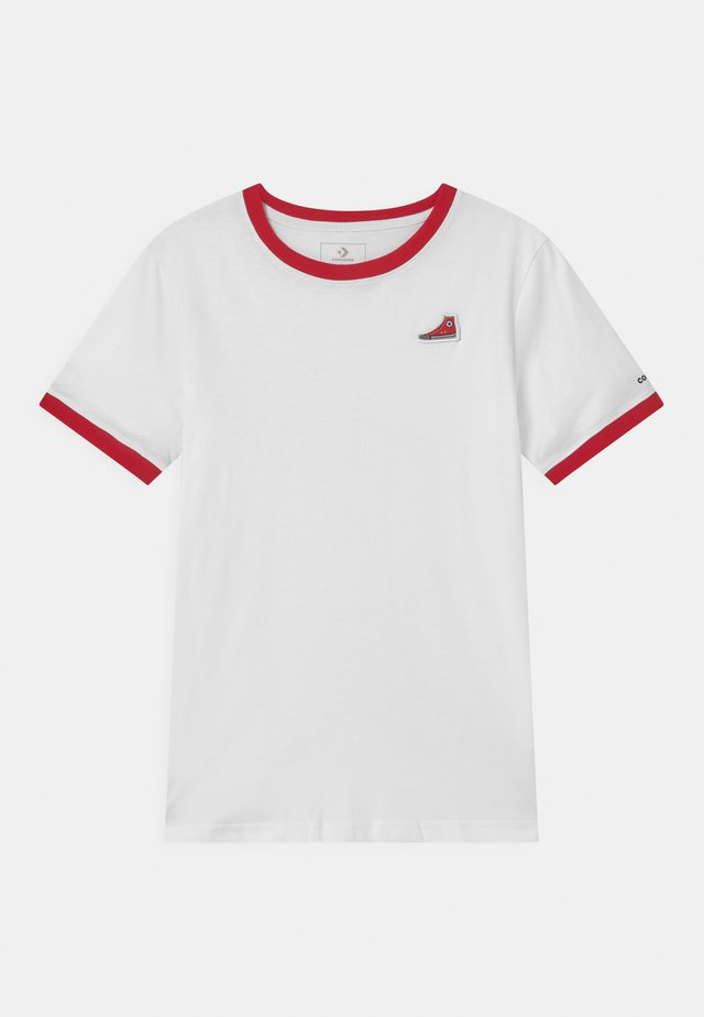 RINGER SNEAKER PATCH - T-shirt con stampa - white