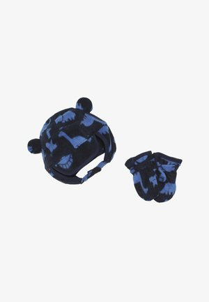 HAT MITT BABY SET - Čepice - navy