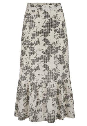 MONO GINGHAM & FLORAL PRINT - A-snit nederdel/ A-formede nederdele - blanc