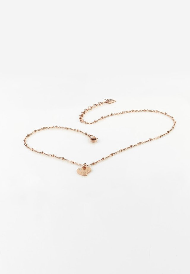 """COLLIER """"QUEEN OF HEART"""" - Collier - rose or"""