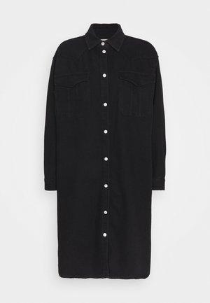 SLFDORA LONG - Skjorta - black denim