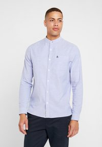 Original Penguin - OXFORD BANDED COLLAR - Košile - amparo blue - 0