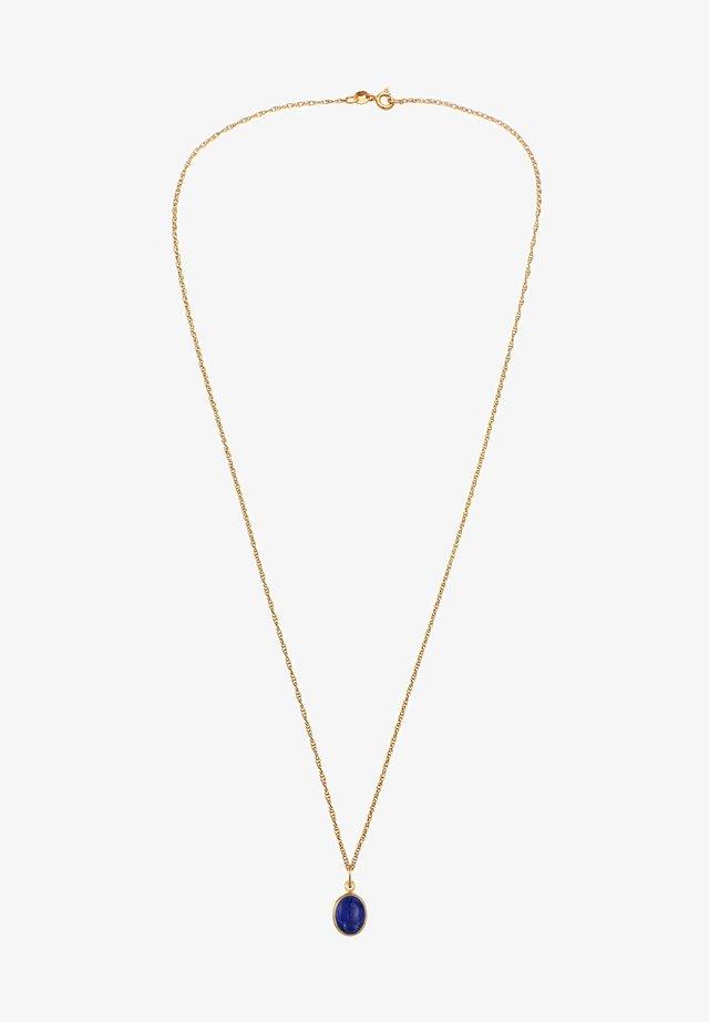 LAPIS LAZULI  - Necklace - gold