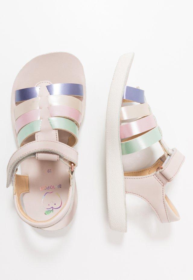 GOA SPART  - Sandaalit nilkkaremmillä - nude/multicolor/pastel