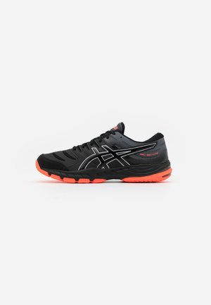 GEL-BEYOND 6 - Handball shoes - black/sunrise red