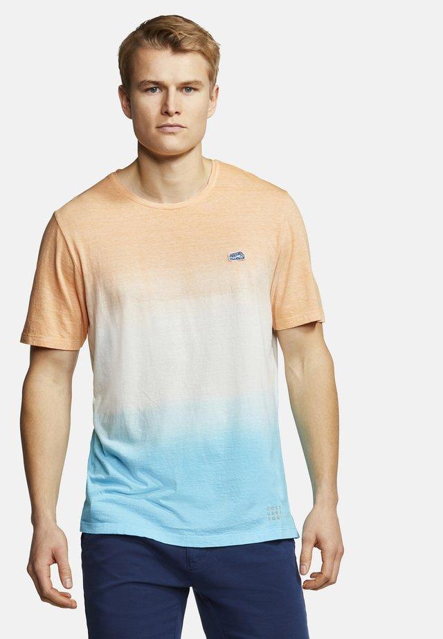 T-SHIRT DIP-DYE FRANK - T-shirt con stampa - mango-aqua