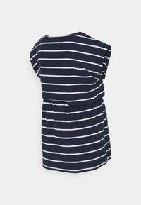 JoJo Maman Bébé - MATERNITY & NURSING DOUBLE LAYER - Print T-shirt - navy/white - 1