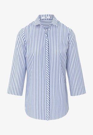 BLUSE 3/4-ARM - Overhemdblouse - weiß/blau