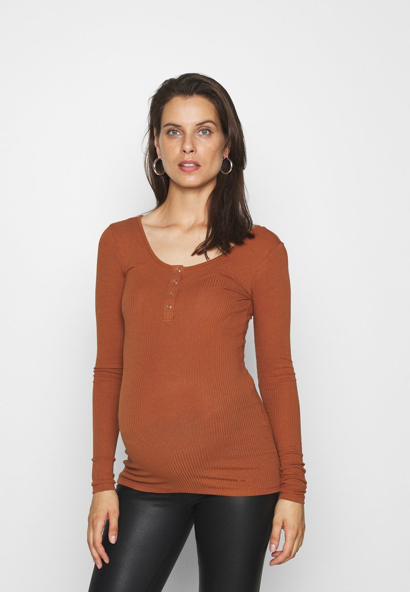 Pieces Maternity - PCMKITTE - Long sleeved top - mocha bisque