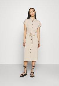 ONLY - ONLHANNOVER SHIRT DRESS - Shirt dress - humus - 0